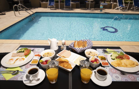 Olympos suites breakfast